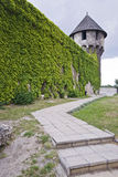 Bastion with bastille. Medieval bastille made of stone in budapest Stock Photo