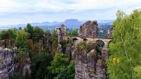 Bastion Bridge in Saxonia near Dresden Royalty Free Stock Photos