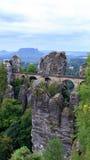 Bastion Bridge in Saxonia near Dresden Stock Images