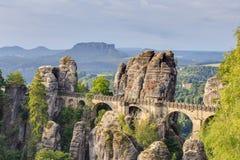 Bastion Bridge in Saxonia near Dresden Stock Photography