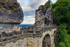 Bastion Bridge in Saxonia near Dresden Royalty Free Stock Photo