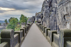 Bastion Bridge in Saxonia near Dresden Royalty Free Stock Images