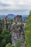 Bastion Bridge in Saxonia near Dresden Stock Photography