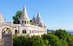 Bastion de pêcheur sur la côte de château de Buda Photographie stock libre de droits