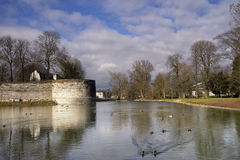 Bastion in der Stadt Maastricht Lizenzfreies Stockfoto