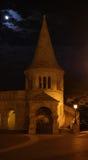 Bastion för fiskare` s på natten fotografering för bildbyråer