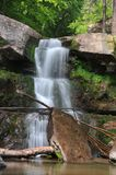 Bastion Falls. Located west of Palenville, NY, is at the base of Kaaterskill Falls, in the Catskills royalty free stock image