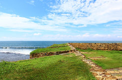 The Bastion of the Fort of Galle, with cutouts for guns Stock Photo
