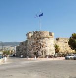 Bastion of fortress of Knights-Hospitaller of. `Neratzia` in port of the island of Kos. Greece Stock Photos
