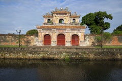 Bastion of the gate in the forbidden Purple city. Hue, Vietnam Stock Photography