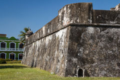 Bastion of gunpowder & x28;fort Baluarte de Santiago& x29; in Veracruz Royalty Free Stock Photography