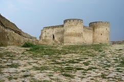 Bastion i det gamla turkiska fästet Akkerman (den vita fästningen) Arkivfoton