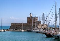 Bastion im Hafen Stockbild