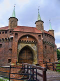 The Bastion of Krakow is part of the fortifications of Krakow that remain now in the city Royalty Free Stock Photography