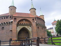 The Bastion of Krakow is part of the fortifications of Krakow that remain now in the city Stock Photo