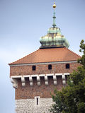 The Bastion of Krakow is part of the fortifications of Krakow that remain now in the city Royalty Free Stock Image