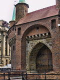 The Bastion of Krakow is part of the fortifications of Krakow that remain now in the city Stock Photography
