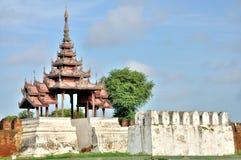 A Bastion at the Mandalay Palace Stock Photos