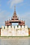 A Bastion at the Mandalay Palace Stock Images