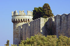 Bastion of the medieval Castle Stock Images