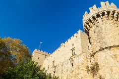 Bastion of the medieval Castle of Knights in Rhodes Royalty Free Stock Photos