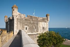 The Bastion at Menton. France. It was transformed in museum by Jean Cocteau stock image