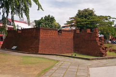 Bastion Middelburg in Malacca Royalty Free Stock Photo