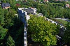Bastion mittelalterlichen Schlosses Celje in Slowenien Lizenzfreies Stockfoto