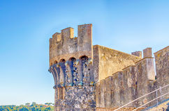 Bastion of The Odescalchi Castle in Bracciano Stock Image