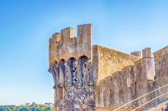 Bastion of The Odescalchi Castle in Bracciano Stock Image