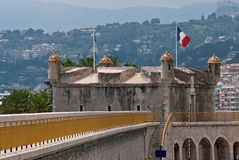 Bastion in old port of Menton Stock Photos