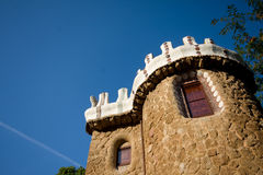 Bastion in Park Guell Royalty Free Stock Image