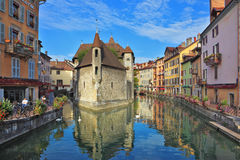 The bastion is reflected in channel water Royalty Free Stock Image