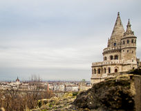 Bastion Spires on Old Castle Hill Stock Photo