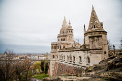 Bastion Spires on Old Castle Hill Stock Images