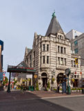Bastion Square in Victoria Canada. The Bastion Square and a historical builiding in downtown Victoria, Vancouver Island, British Columbia, Canada Stock Image