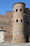 Bastion in surrounding walls of Rome Royalty Free Stock Photos