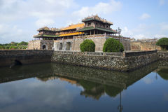 The bastion Thanh Bastion with the main gate of the Imperial forbidden purple city. Hue, Vietnam Royalty Free Stock Photos