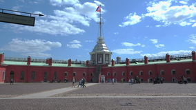 Bastion van de Peter en van Paul vesting St Petersburg 4K stock video