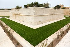 Bastion walls Mdina in Malta, 2013 Royalty Free Stock Photos