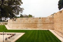 Bastion walls Mdina in Malta, 2013 Royalty Free Stock Image