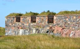 Bastion Zander at Kustaanmiekka in southern Suomenlinna. It was built between 1748 and 1750 as part of chain of four bastions. Finland Royalty Free Stock Photography