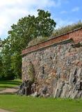 Bastion Zander på Kustaanmiekka i sydliga Suomenlinna Det byggdes mellan 1748 och 1750 som delen av kedjan av fyra bastioner Hel arkivfoto
