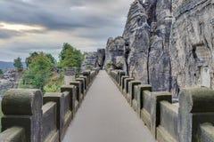 Bastionbro i Saxonia nära Dresden Royaltyfria Bilder