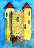 Bastione del castello Fotografia Stock