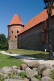 Bastione del castello di Trakai Immagini Stock
