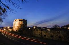 Bastione della cittadella alla notte immagine stock libera da diritti