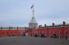 Bastione di Naryshkin e la torre della bandiera Fotografia Stock