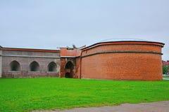 Bastione di Zotov di Peter e di Paul Fortress in San Pietroburgo, Russia Fotografie Stock Libere da Diritti