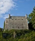 Bastione fortificato della parete del castello Fotografia Stock
